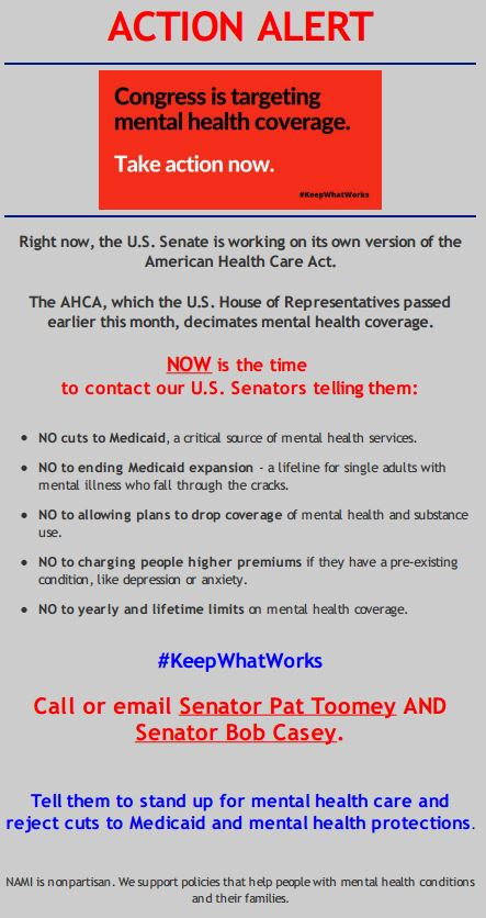 Action Alert Health Care And Mental Health Coverage Nami Keystone